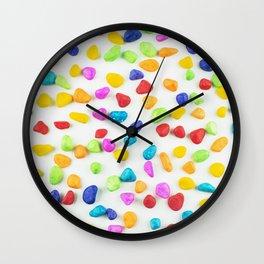 Rainbow rocks Wall Clock