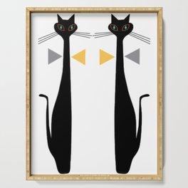Mid-Century Modern Art Cat Double 1.0T Serving Tray