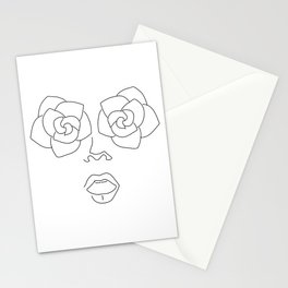 Woman Face Stationery Cards
