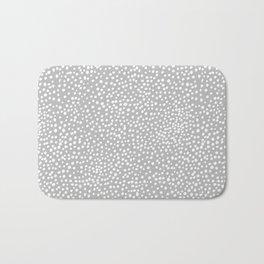 Little wild cheetah spots animal print neutral home trend cool gray black  Bath Mat