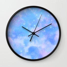 Pastel Cloulds Sky Seamless Nebula 2 Wall Clock