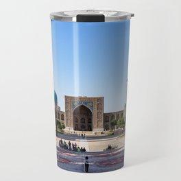 Sunset on Registan square - Samarkand, Uzbekistan Travel Mug