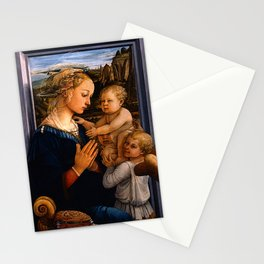 "Fra Filippo Lippi ""Madonna with child and two Angels"" Stationery Cards"