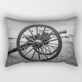 Monocacy National Battlefield Civil War Cannon Black and White Photography National Park Maryland Rectangular Pillow