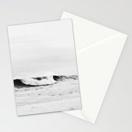 Minimalist Black and White Ocean Wave Photograph Stationery Cards