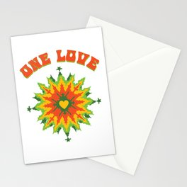 One Love fractal Stationery Cards