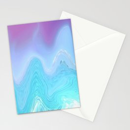 Blue and Purple Agate Stationery Cards