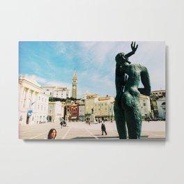 Piran, Mediterranean Sea, Photo Metal Print