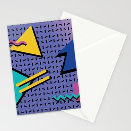 Memphis Pattern 9 - 90s - Retro Stationery Cards