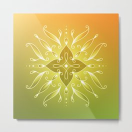 Alpha waves | Enchanted sleep Metal Print