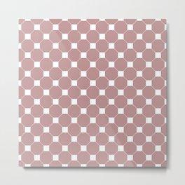 Light Pink Seamless Octagon Pattern  Metal Print