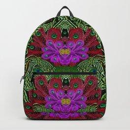 Metal Peacock In paradise Land Backpack