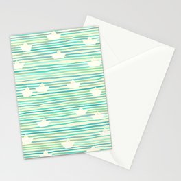 Whimsical Paper Boats Stationery Cards