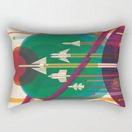 NASA Retro Space Travel Poster #5 Rectangular Pillow