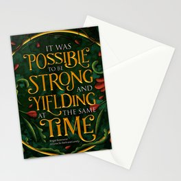 To be strong Stationery Cards