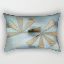 Rusted Triangles on Blue Grey Backdrop Rectangular Pillow