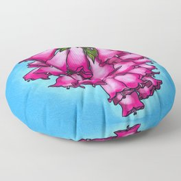 Pretty in Pink Bell Flowers Floor Pillow