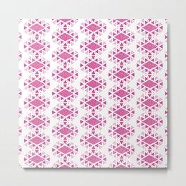 Monlay Pink, Mountain lines, Geometric Metal Print