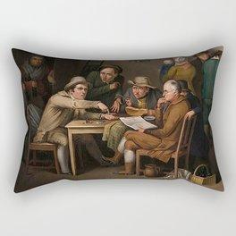 The Village Politicians Rectangular Pillow
