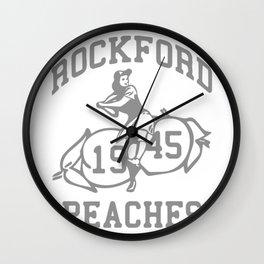 ROCKFORD PEACHES Wall Clock