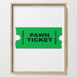 Pawn Ticket Serving Tray