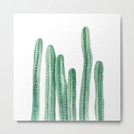 Cactus Painting Design - Cacti Design - Tall Cactus Design Metal Print