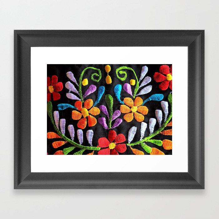 Mexican Flowers Gerahmter Kunstdruck