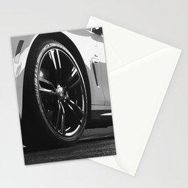 Black Rim Sports Car // White Paint Street Level B&W German Bavarian Motor Automobile Photograph Stationery Cards