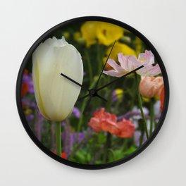 White Tulip Wall Clock