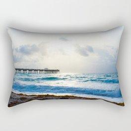 Sunrise At The Pier Rectangular Pillow