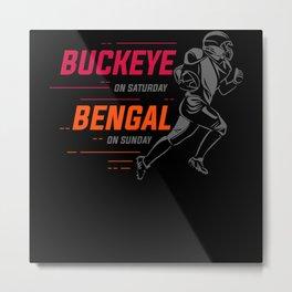 cleveland football, buckeye football, Bengals Metal Print