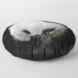 Cute panda bear portrait  Floor Pillow