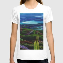 The Primeval Forest landscape painting by Gerardo Dottori T-shirt