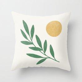 Leaf Sun 1 Throw Pillow