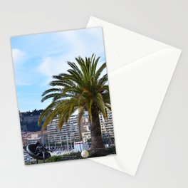 Big palm tree in a rooftop of Monte Carlo, Monaco | Travel Photography Stationery Cards