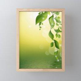 Floral Leaves. Framed Mini Art Print