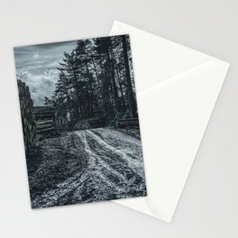 Poltery Site (Wood Storage Area) After Storm Victoria Möhne Forest 5 dark Stationery Cards