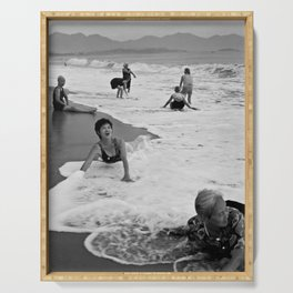 Bathing Woman in Vietnam - analog Serving Tray