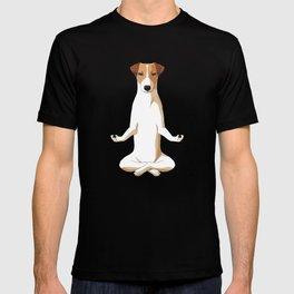 Meditating Jack Russell Terrier Dog T-shirt