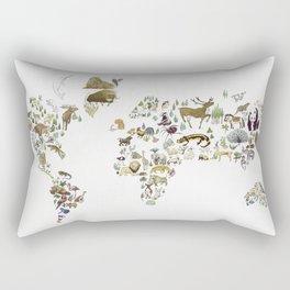 Animal Map Rectangular Pillow