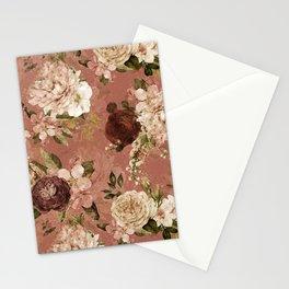 Sepia Botanical Vintage Rose Garden  Stationery Cards
