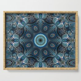 Mysterious space mandala Serving Tray