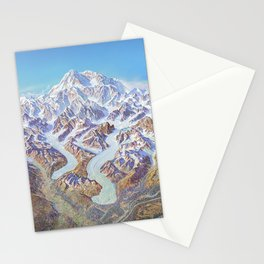 Heinrich Berann - Panoramic Painting of Denali National Park (1994) Stationery Cards