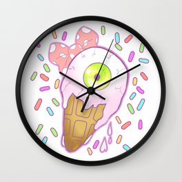 Eyes Cream Wall Clock