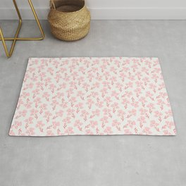 Pink roses print - soft pink palette  Rug