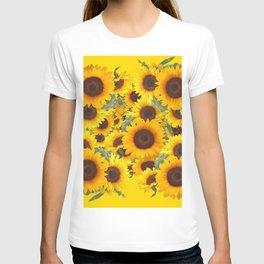 DECORATIVE WESTERN YELLOW SUNFLOWERS FIELDS T-shirt