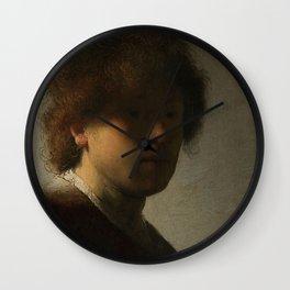 Self-portrait - Rembrandt van Rijn (1628) Wall Clock