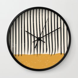 Mid Century Modern Minimalist Rothko Inspired Color Field With Lines Geometric Style Wall Clock
