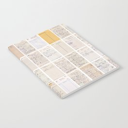 Old Friends Library Circulation Card Print Notebook