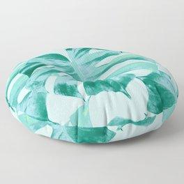 Tropical Monstera Leaves Dream #4 #tropical #decor #art #society6 Floor Pillow
